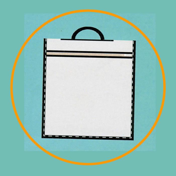 Plastik Saplı Bez Torbalar 005